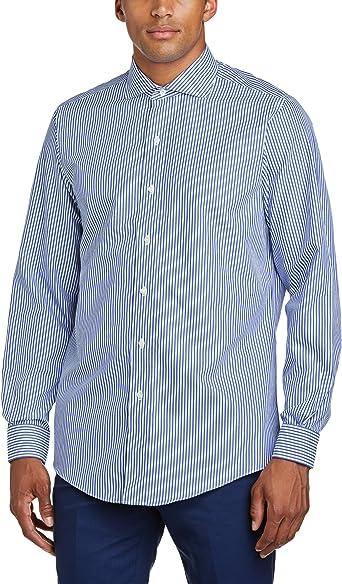 BROOKS BROTHERS - Camisa slim fit de manga larga para hombre, talla 41/42, color azul oscuro: Amazon.es: Ropa y accesorios