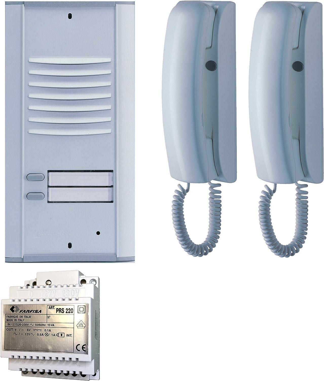 10/W 240/V N C/âblage Farfisa 2/V encastr/é Interphone bi-Famille Traditionnelle 4/