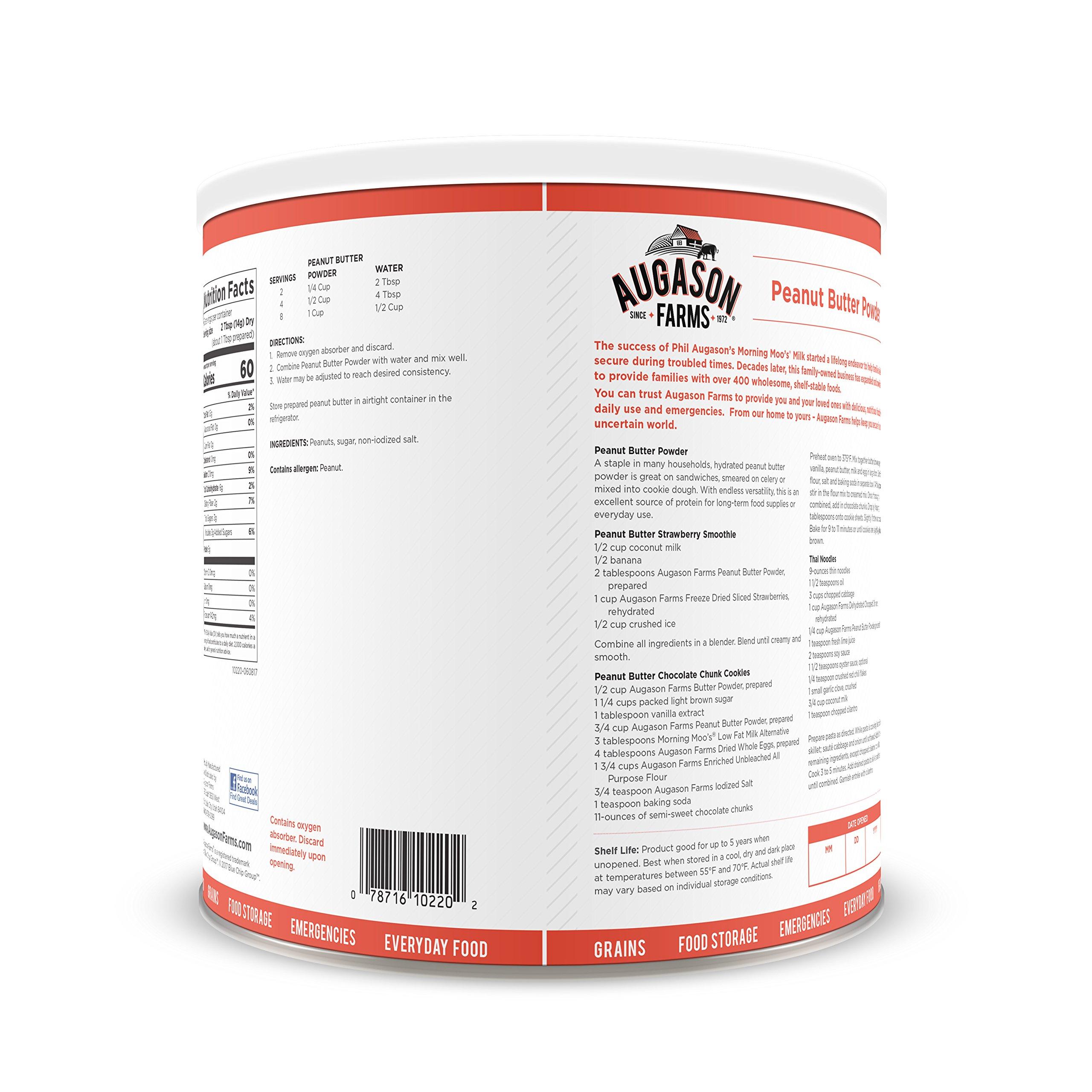 Augason Farms Peanut Butter Powder 2 lbs No. 10 Can by Augason Farms (Image #2)