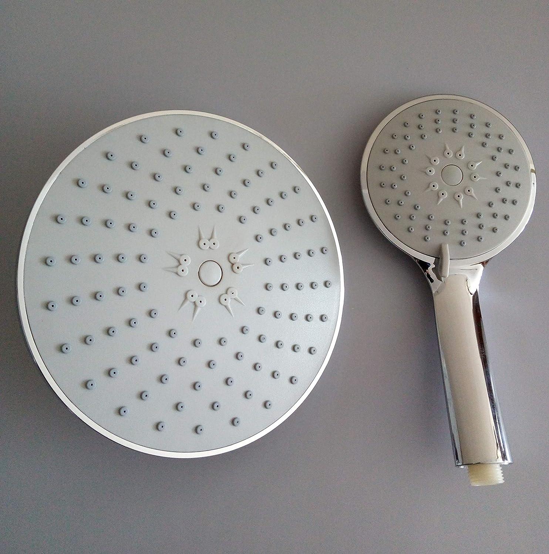 Chrome Finish High Flow Rainfall and Handheld Anti-clog Easy Installation Showerhead for Bathroom with Adjustable Mental Swivel Ball SEIDO Dual High Pressure Shower Head
