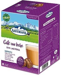 Central Lechera Asturiana Cápsulas de Café con Leche Sin Lactosa - 4 Paquetes de 16…