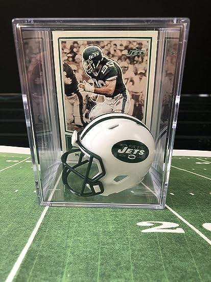 Amazon.com  New York Jets NFL Helmet Shadowbox w Mark Gastineau card ... dab12b0e9
