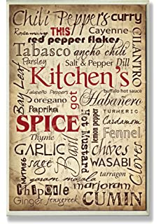 The Stupell Home Decor Collection Kitchen Spice Typography Wall Plaque