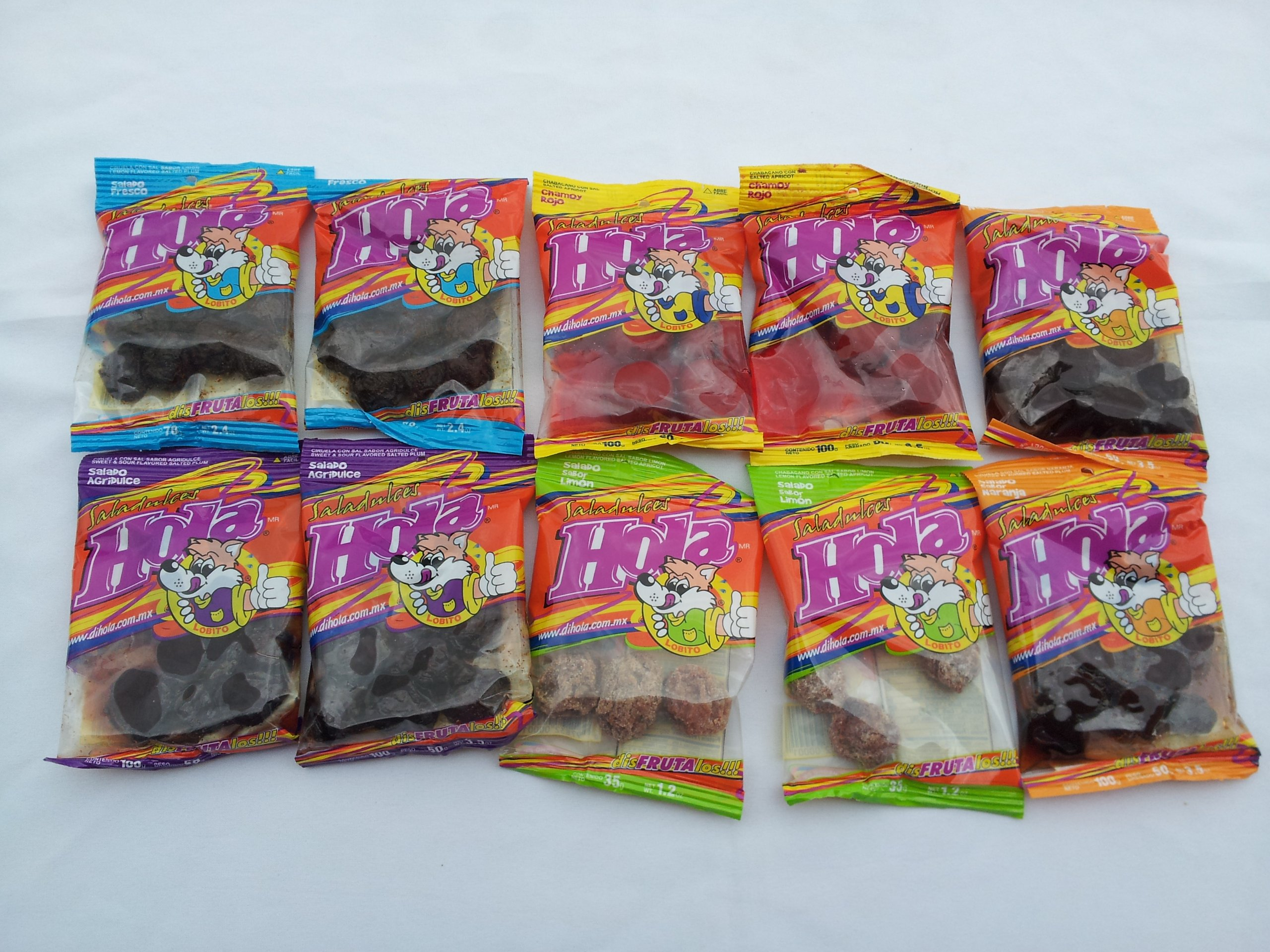 10pack Saladitos Mix - Saladulces Hola Lobito - Flavored Salted Apricot