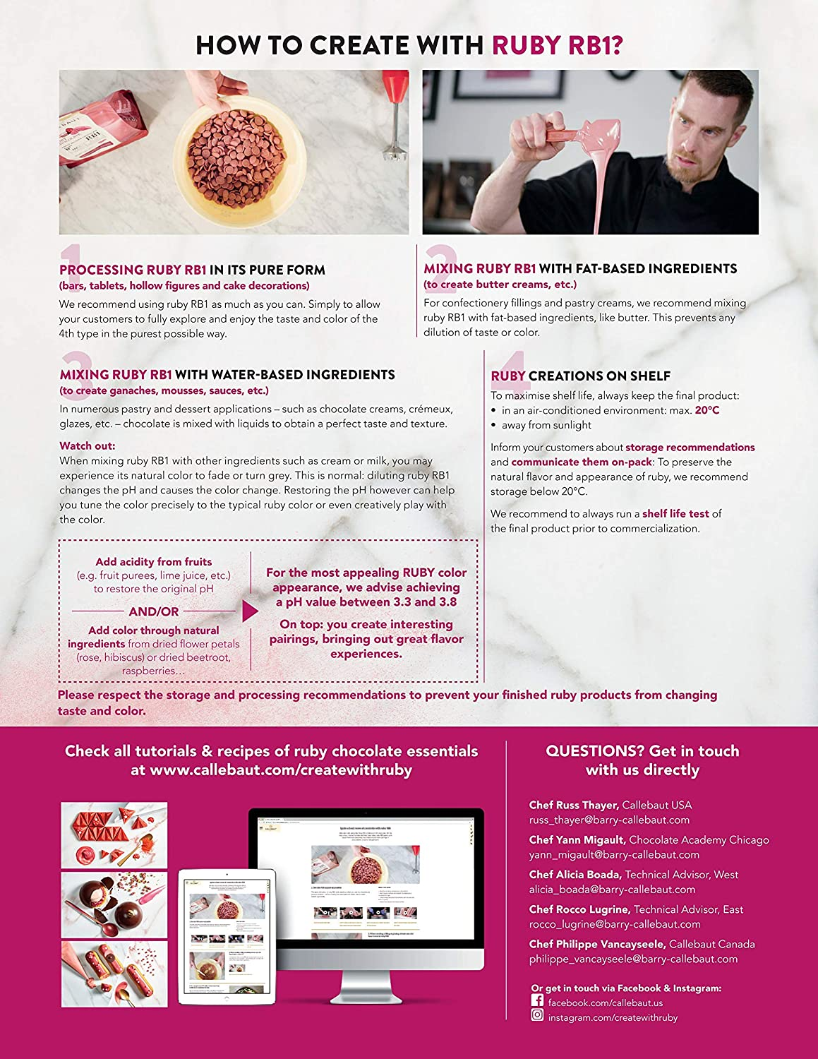 Callebaut Ruby Couverture Chocolate Callets   Recipe RB1   Crafted from the  Ruby Cocoa Bean, No