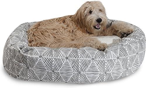 Majestic Pet 24 Charlie Beige Metallic Sherpa Bagel Bed
