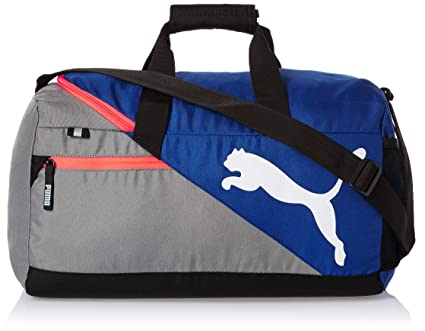Puma Polyester Mazarine Blue and Red Blast Gym Bag (Multicolour ... 56d3371195f8d
