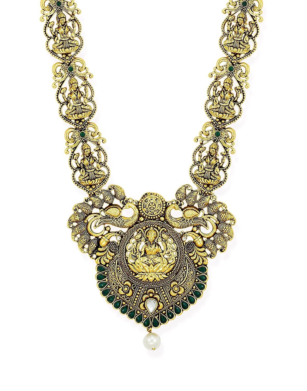 9968c39001dd8 Zaveri Pearls Jewellery Set for Women (Golden) (ZPFK6758)