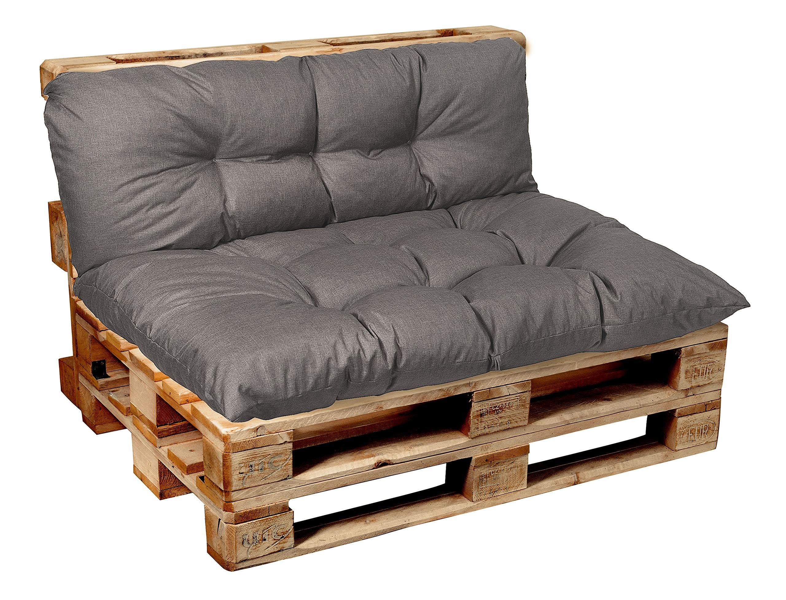 Garden Euro Pallet Cushions, Tufted, Seating, Backrest, Corner, Set Cushions Outdoor Indoor 120x80, 120x60, 120x50, 120x40