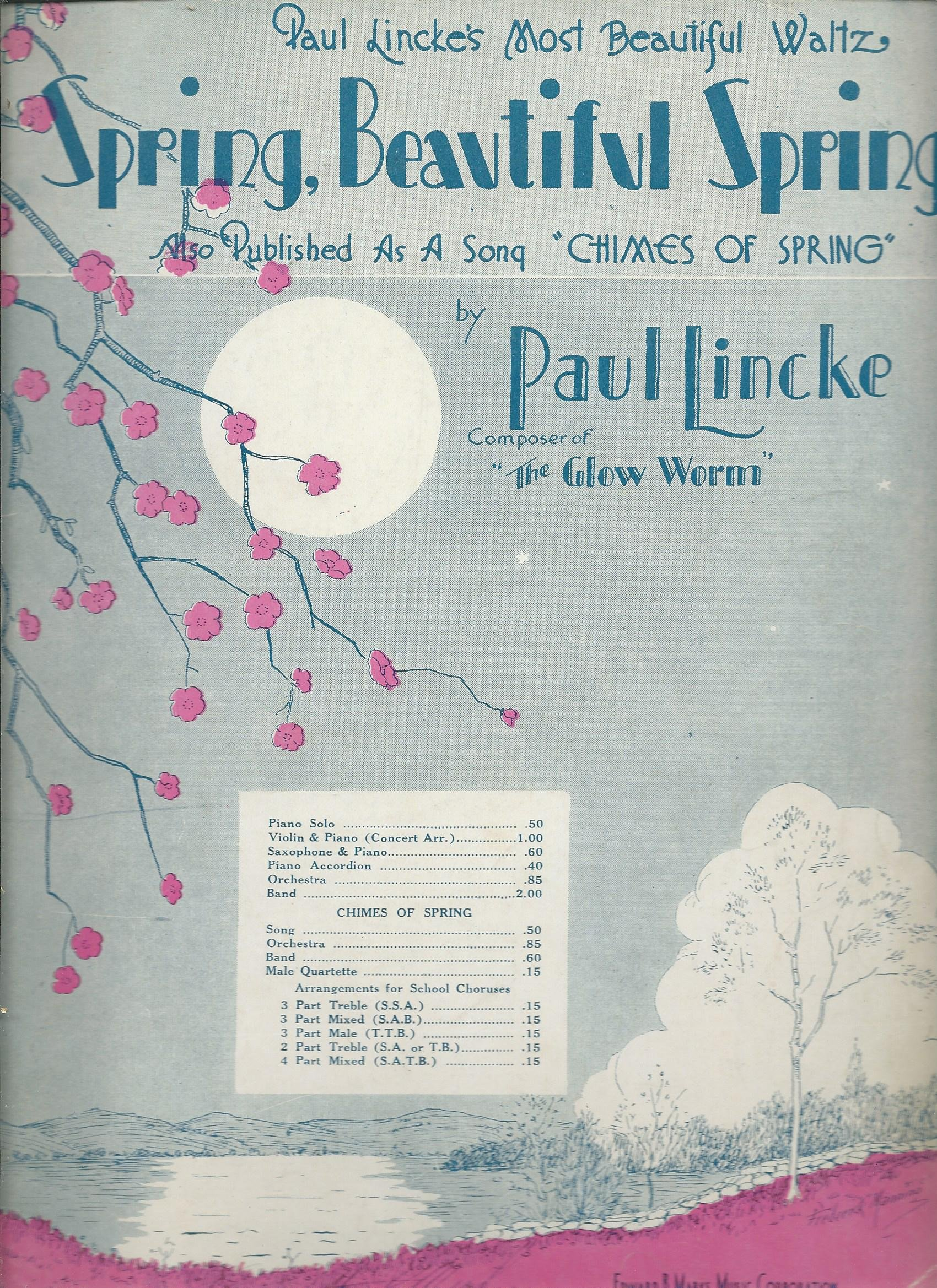 Spring, Beautiful Spring Piano Solo (Also Published As a