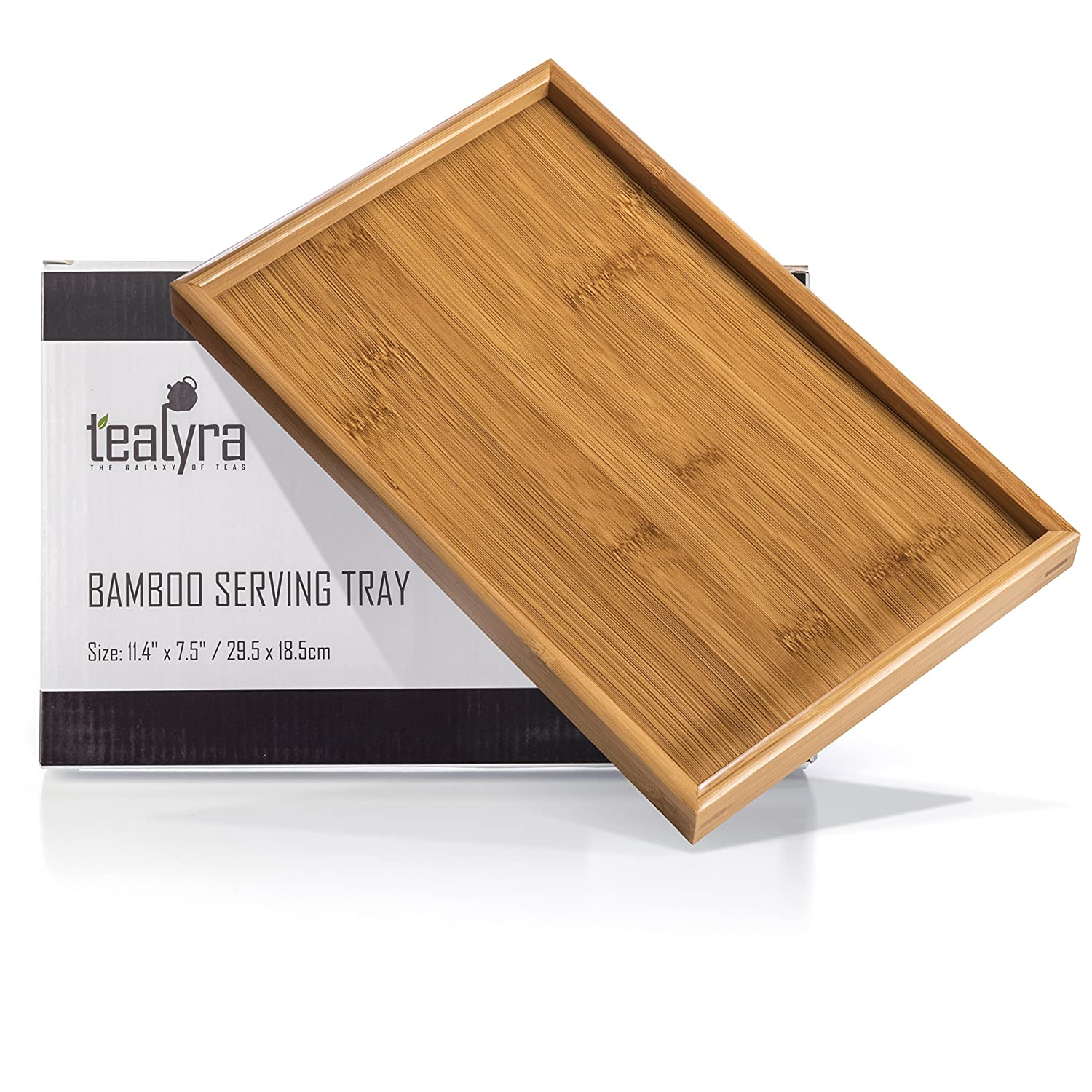 Bamboo Gongfu Tea Serving Tray Tabletop - For The Perfect Tea Serving - 29.5x19.5cm / 11.6