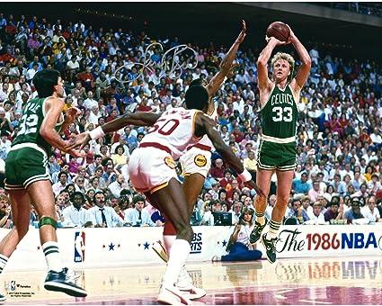 3a9c6e36c Larry Bird Boston Celtics Autographed 16 quot  x 20 quot  1986 NBA Finals  Photograph - Fanatics