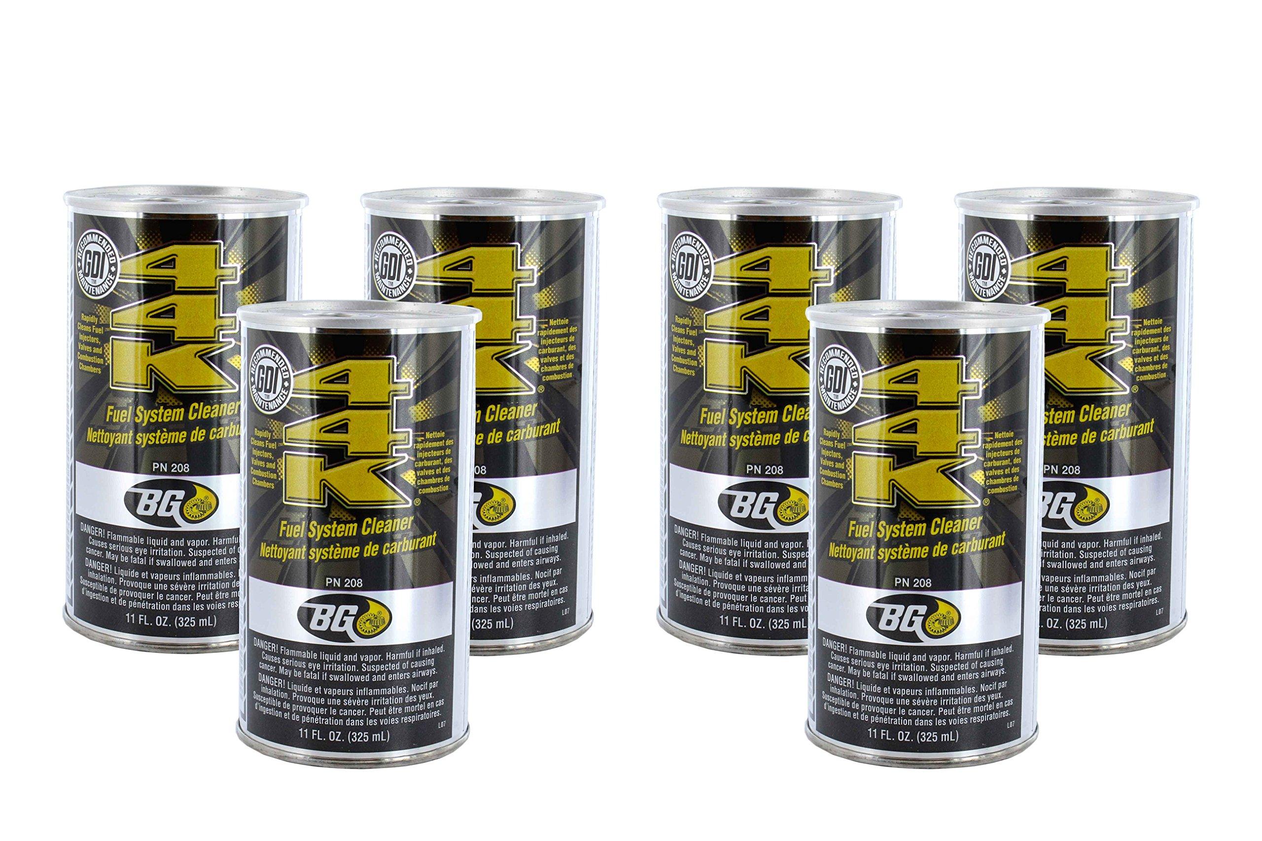 BG 44K Fuel System Cleaner Power Enhancer (QTY 6) 11oz cans by BG