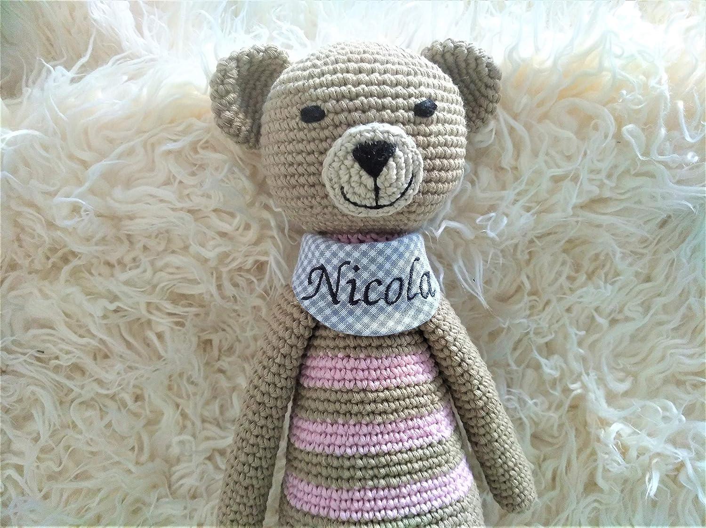 handmade Kuscheltier Namen für Babys mit Namen Kuscheltier bestickt, personalisierte Geschenke für Baby 9d5438