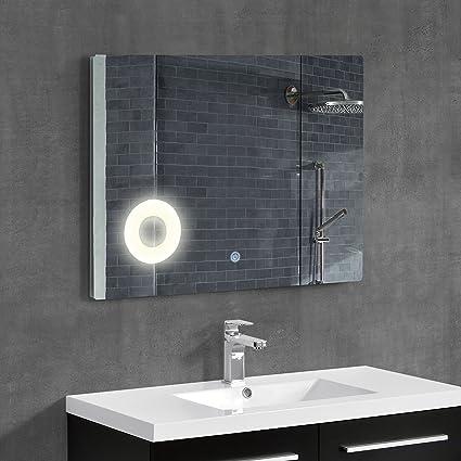 [neu.haus]® Speccio Murale   Specchio Per Bagno Con Illuminzione LED