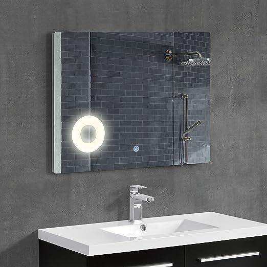 5 opinioni per [neu.haus] Speccio murale- Specchio per bagno con illuminzione LED