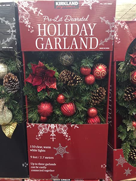 Kirkland Signature 9 Decorated Garland Amazon Co Uk Kitchen Home