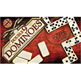 Double Nine Domino Set -Classic set with brass spinners