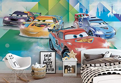 Disney Cars Lightning Mcqueen Camino Photo Wallpaper Wall Mural