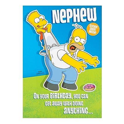 Amazon Simpsons Birthday Card For A Nephew By Hallmark