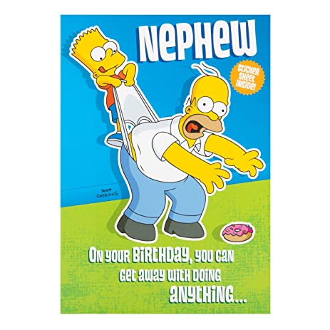 Amazon Simpsons Birthday Card For A Nephew By Hallmark