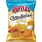 Ruffles Oven Baked Cheddar & Sour Cream Flavored Potato Crisps, 6.25 Ounce
