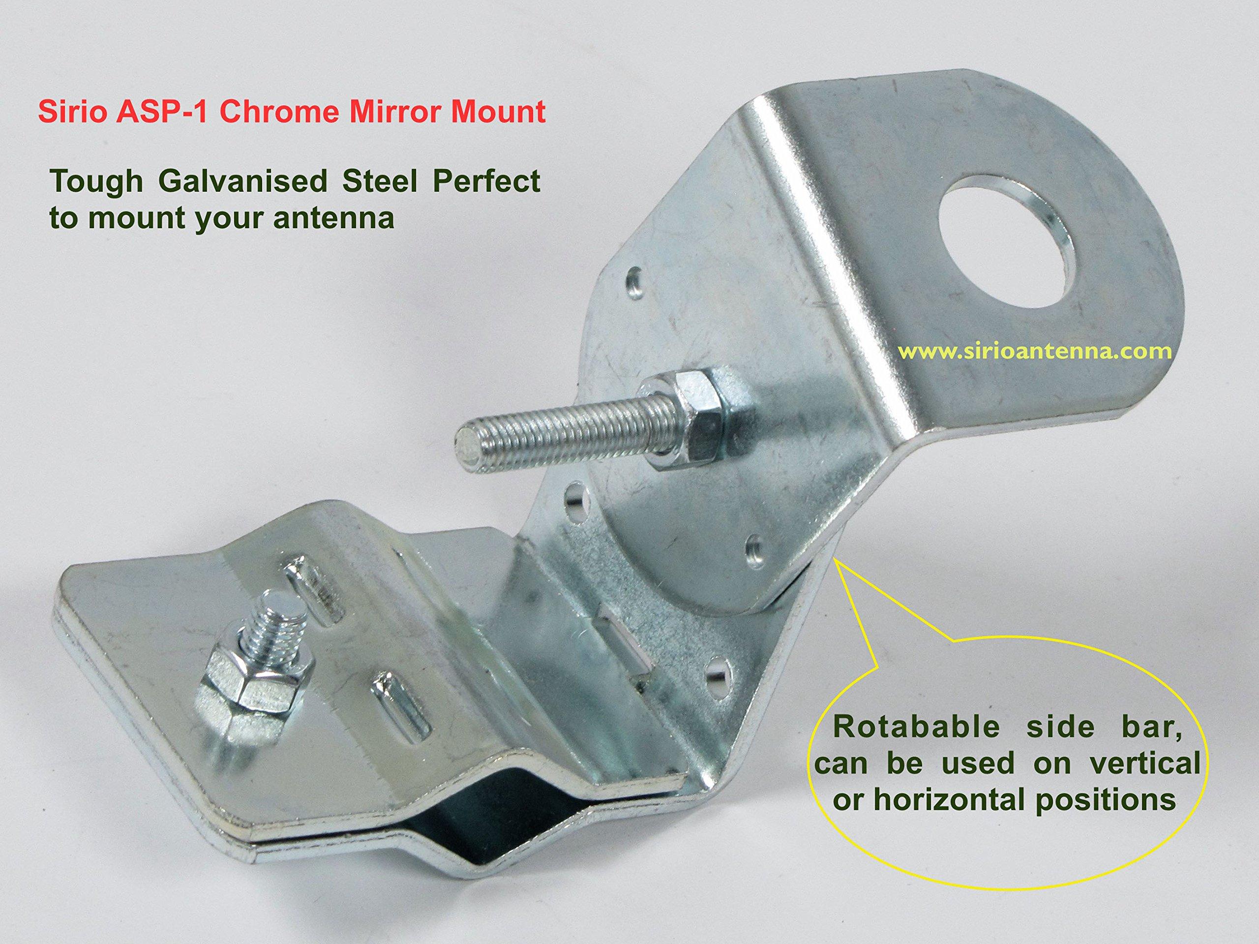Sirio ASP-1 Chrome Mirror Mount for CB Antenna