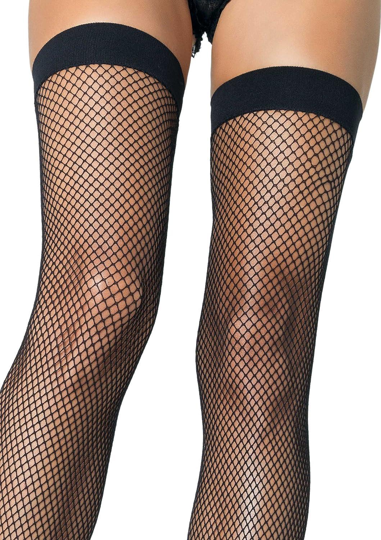 Fashion look from june 2014 featuring thigh high hosiery purple - Amazon Com Leg Avenue Women S Nylon Fishnet Thigh High Stockings Black One Size Clothing