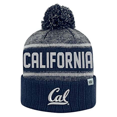 4a97567bfbcb1 Top of the World Cal Bears Official NCAA Cuffed Knit Acid Rain Beanie  Stocking Stretch Sock