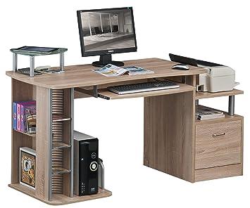Sixbros Computerschreibtisch Eiche Holzoptik S 202a1845 Amazon