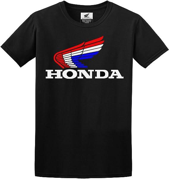 725721eca JH Design Honda T-Shirt Classic Red White & Blue Logo Mens Crewneck T-Shirt  (Black, X-Large): Amazon.ca: Clothing & Accessories