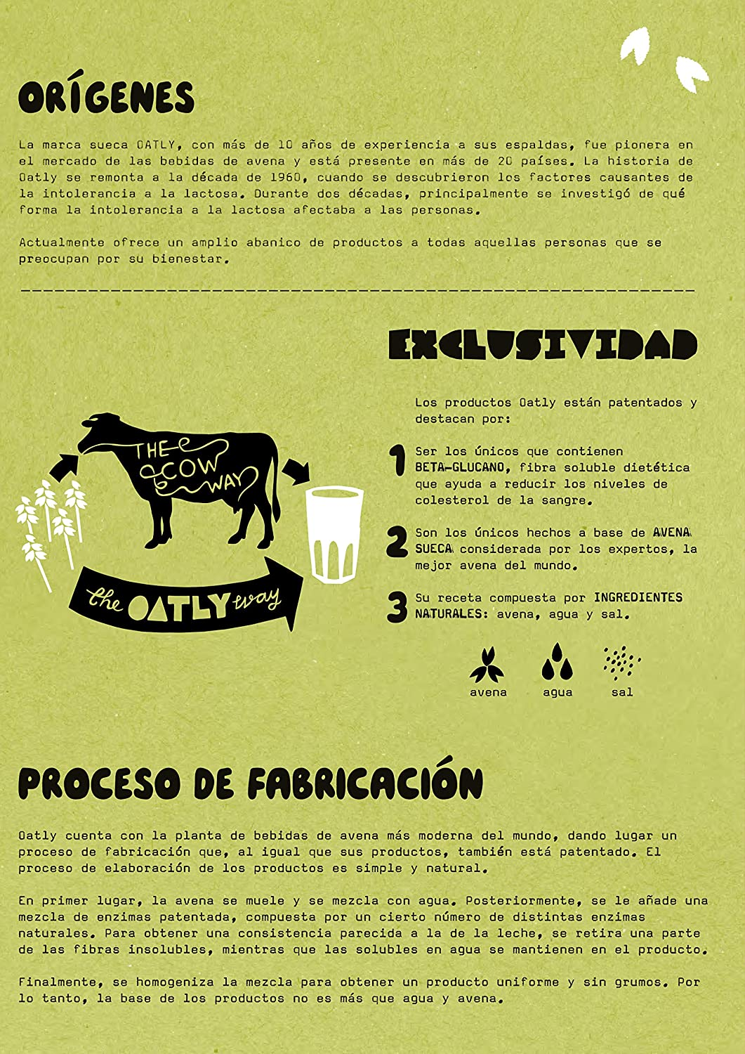 Oatly Bebida Avena con Chocolate - 1000 ml - [Pack de 3]