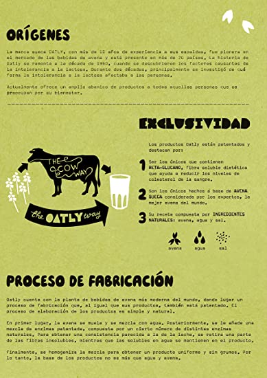 Oatly Bebida de Avena con Calcio - 1000 ml - [Pack de 2]: Amazon.es: Alimentación y bebidas