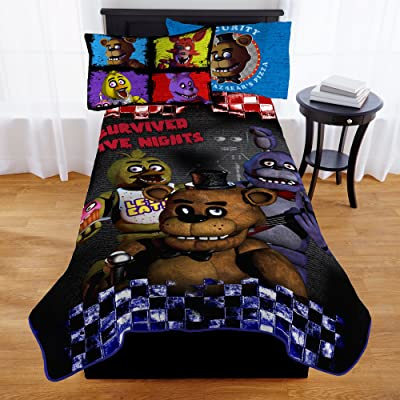 Franco Manufacturing Five Nights At Freddy's Furious Five Kids' Bedding Blanket, Twin, 62 x 90#188587358: Home & Kitchen