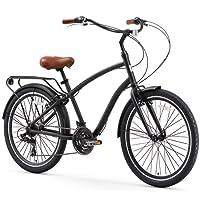 sixthreezero EVRYjourney Men's 26-Inch 7-Speed Sport Hybrid Cruiser Bicycle, Matte Black