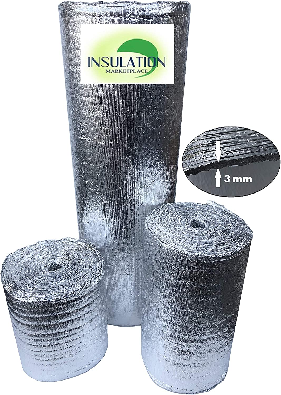 4 X 50 Ft Roll Double Bubble Reflective Foil Radiant Barrier Insulation: