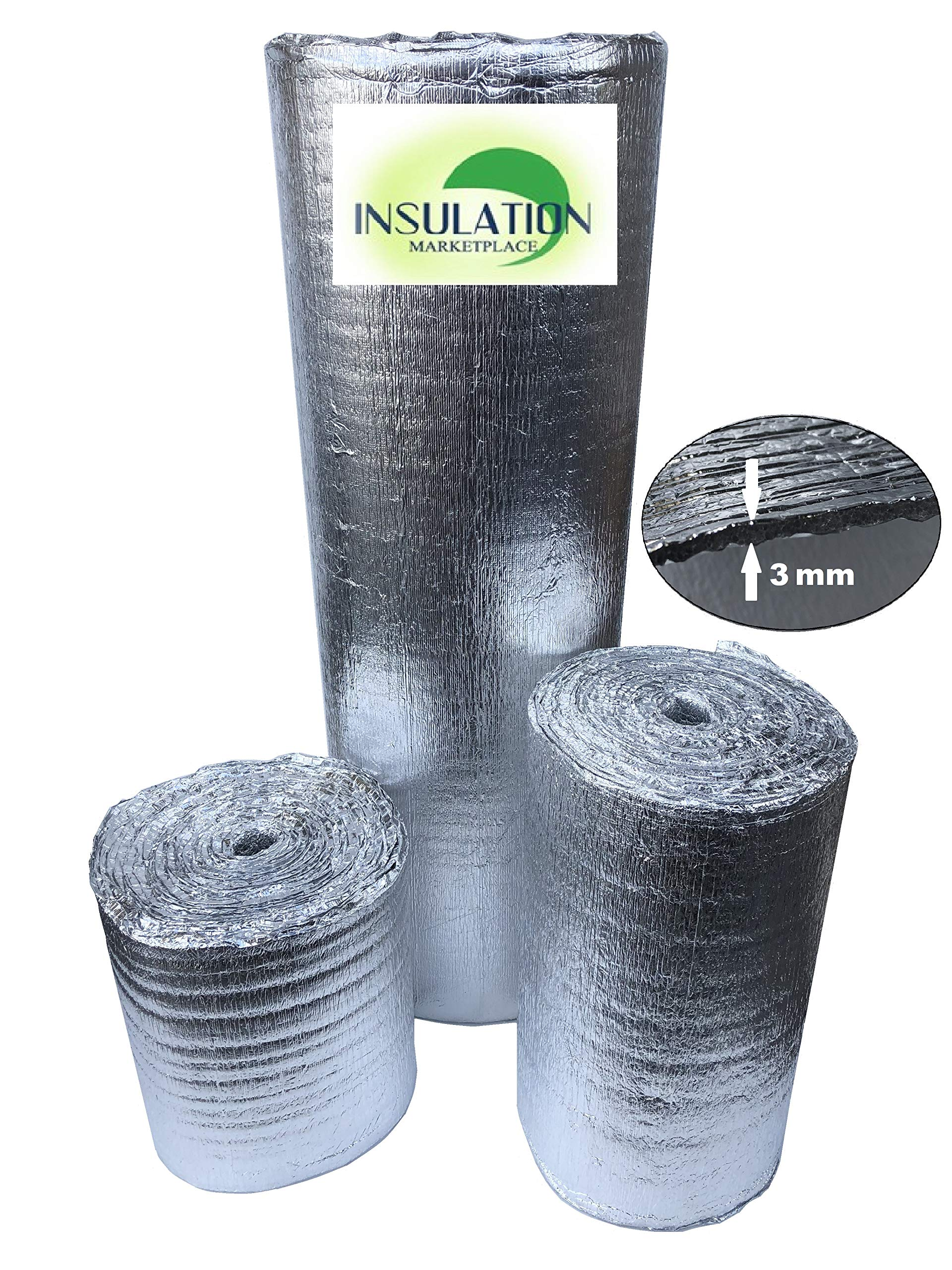 Reflective Insulation Shield, Heat Shield, Thermal Insulation Shield 16''x50ft, 24''x50ft, 48''x50ft, 48''x100ft (16''x50') by Insulation Market Place LLC