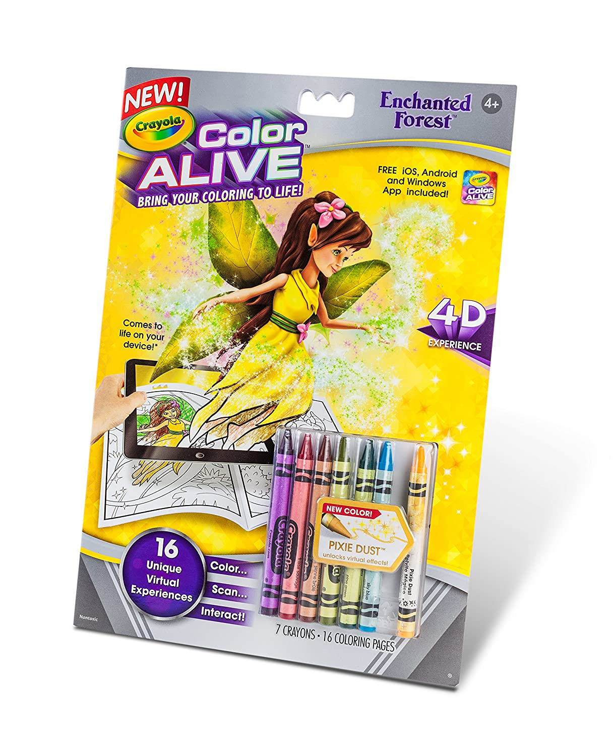 amazon com crayola color alive action coloring pages enchanted