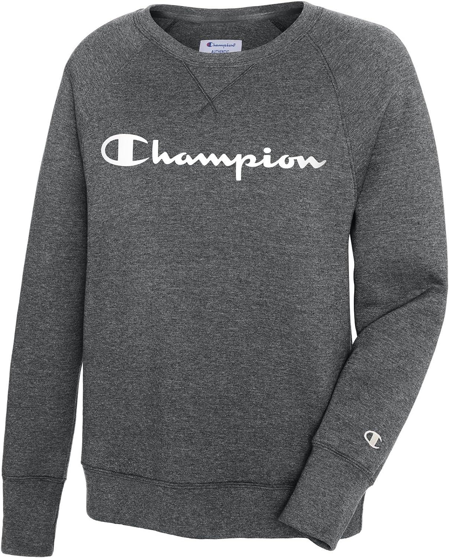 Champion Damen Fleece Boyfriend Crew Sweatshirt Surf The Web