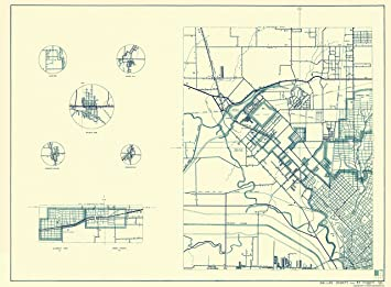 Old Dallas Map.Amazon Com Old County Map Dallas Texas Cities 1 Of 4 Highway