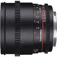 Samyang F1313006101 - Objetivo para vídeo VDSLR para Sony E (Distancia Focal Fija 85mm, Apertura T1.5-22 AS IF UMC II, diámetro Filtro: 72mm), Negro