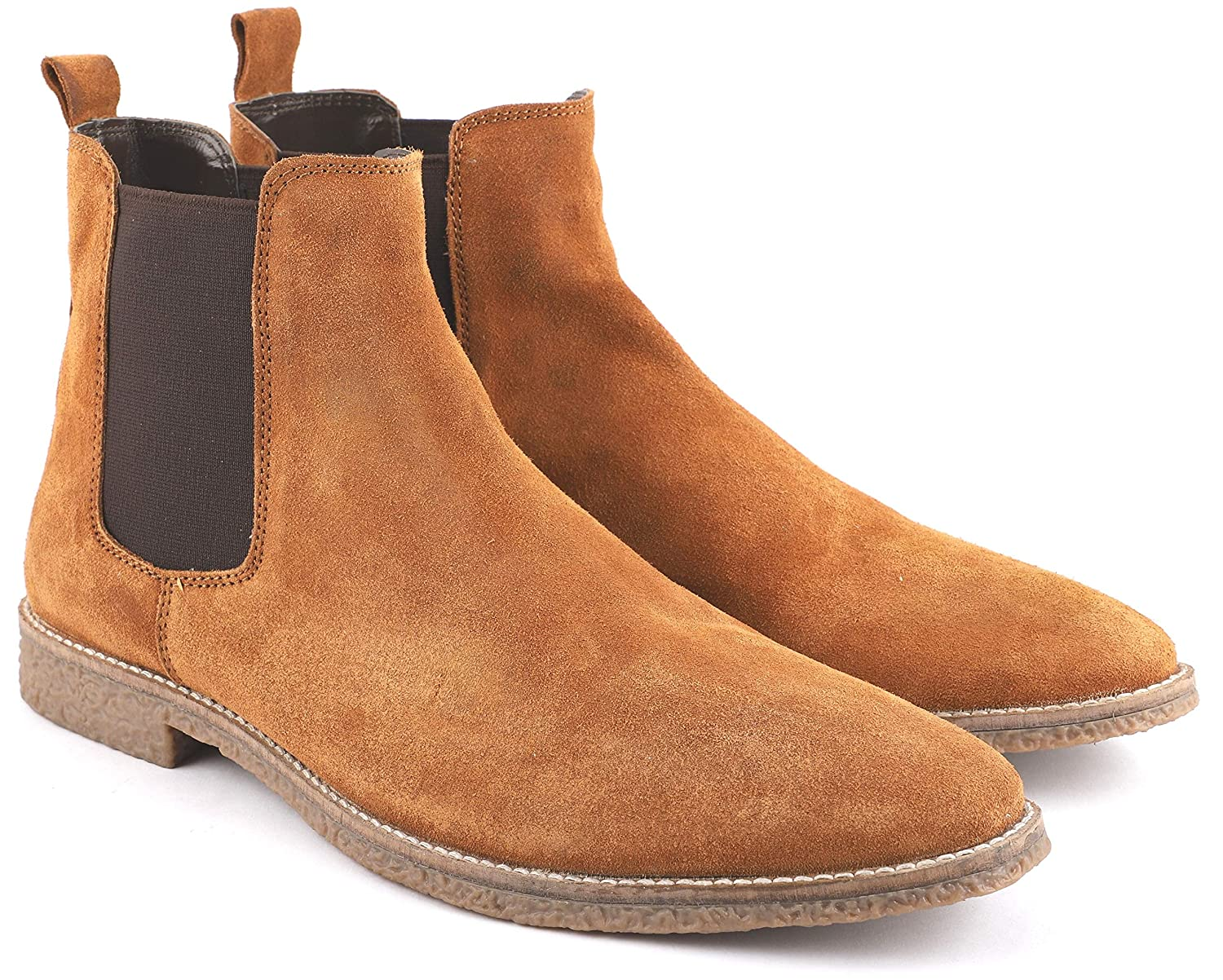 Freacksters Men S Suede Leather Chelsea Boots Buy Online At Low