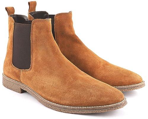 Buy Freacksters Men's Tan Chelsea Boots