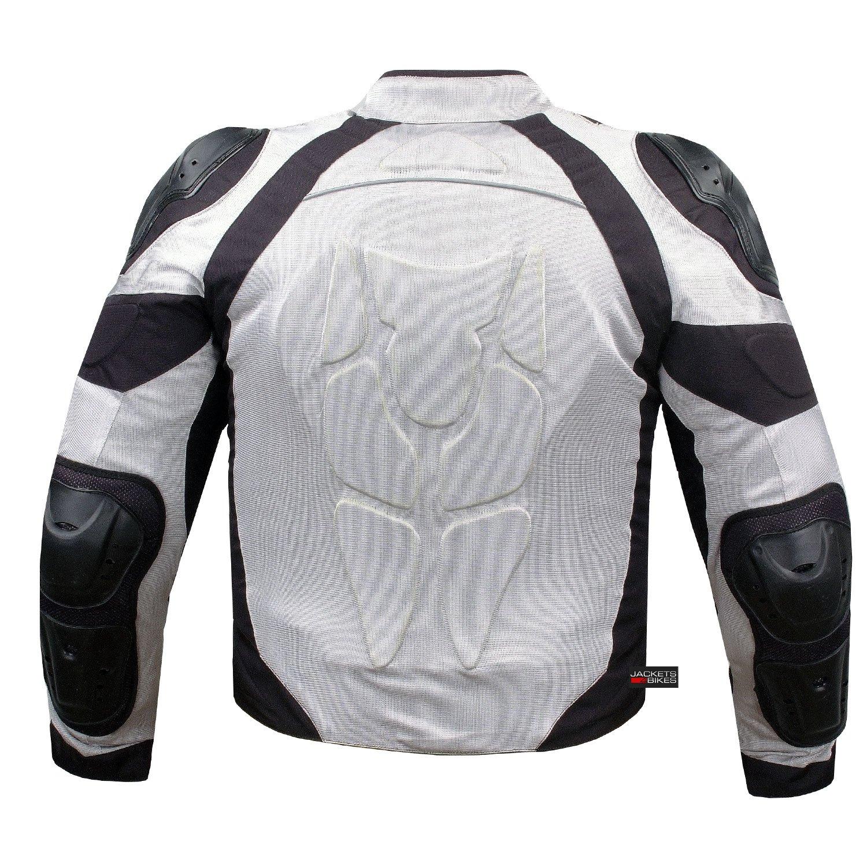 PRO MESH MOTORCYCLE JACKET RAIN WATERPROOF WHITE M by Jackets 4 Bikes (Image #4)