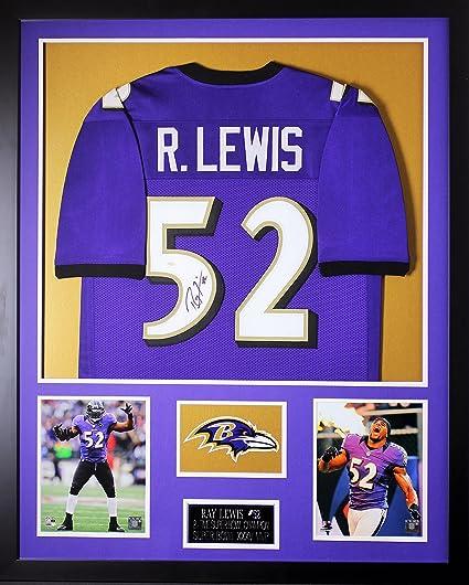 Amazon.com: Ray Lewis Autographed Purple Jersey - Beautifully ...