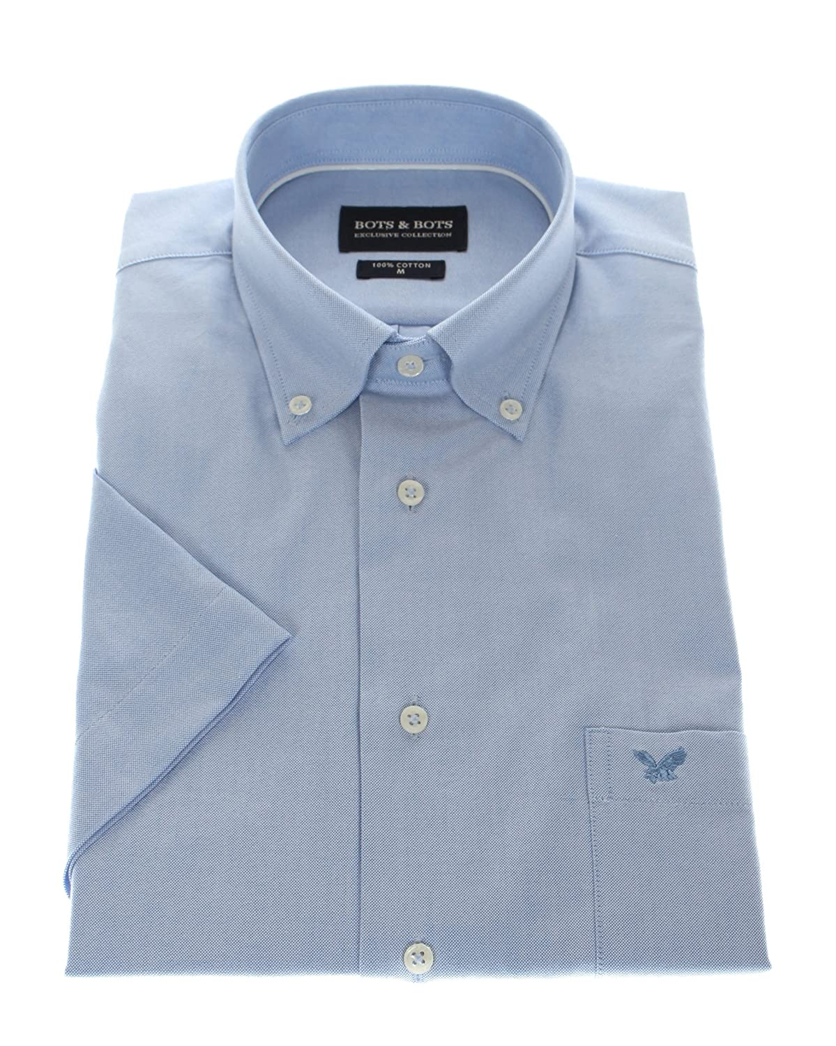 167004 Bots & Bots Exclusive Collection - Gents Shirt Short Sleeves Cotton Buton Down Normal Fit