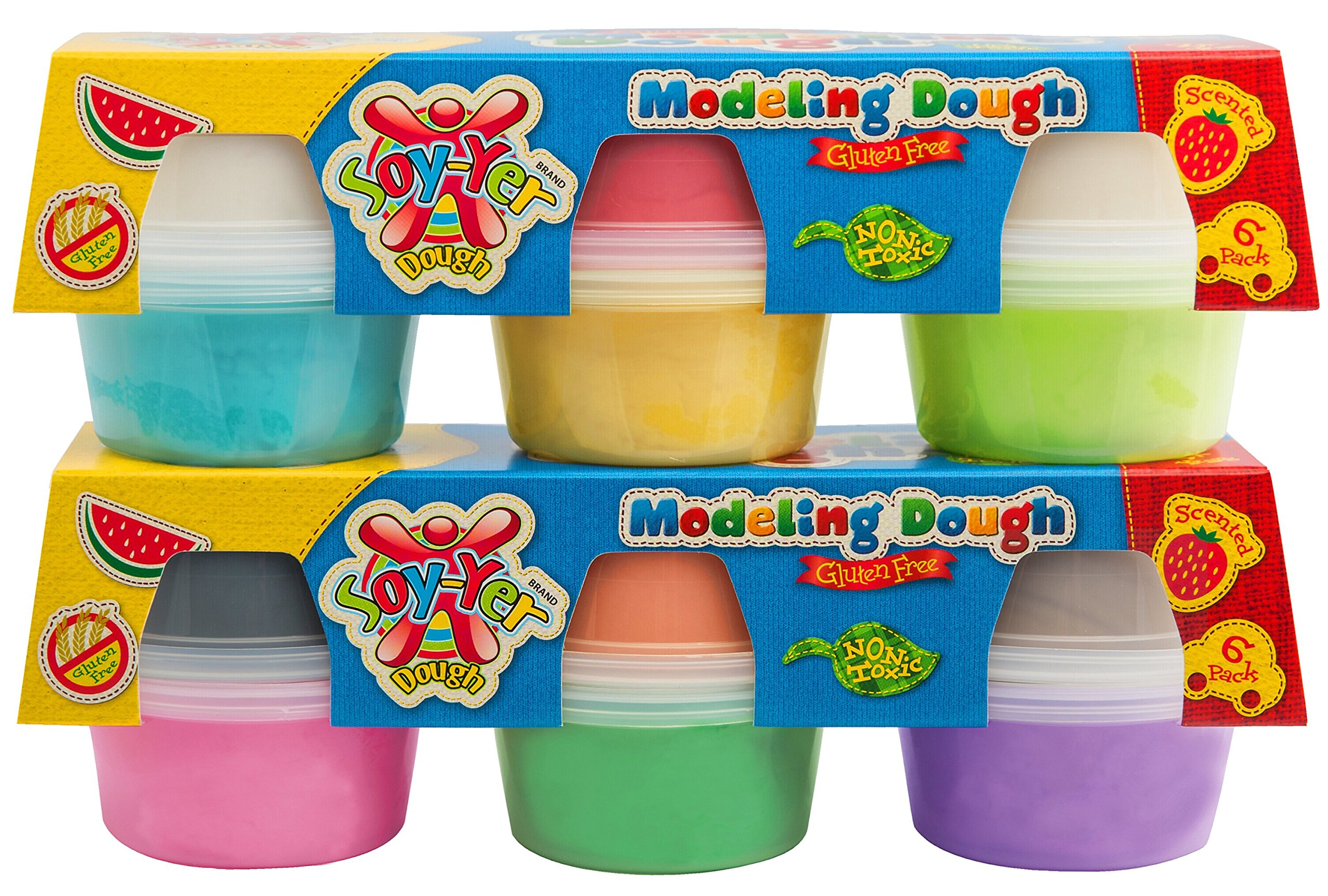 Gluten Free Modeling Play Dough, 10 Pack by Soy-Yer Dough