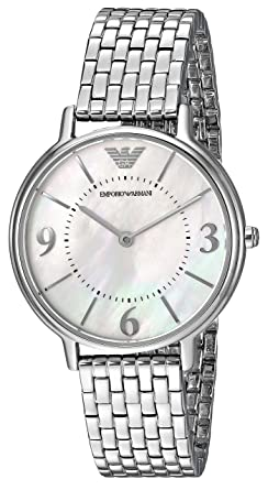 730b9607a03a Image Unavailable. Image not available for. Color  Emporio Armani Women s  AR2507 Dress Silver Quartz Watch