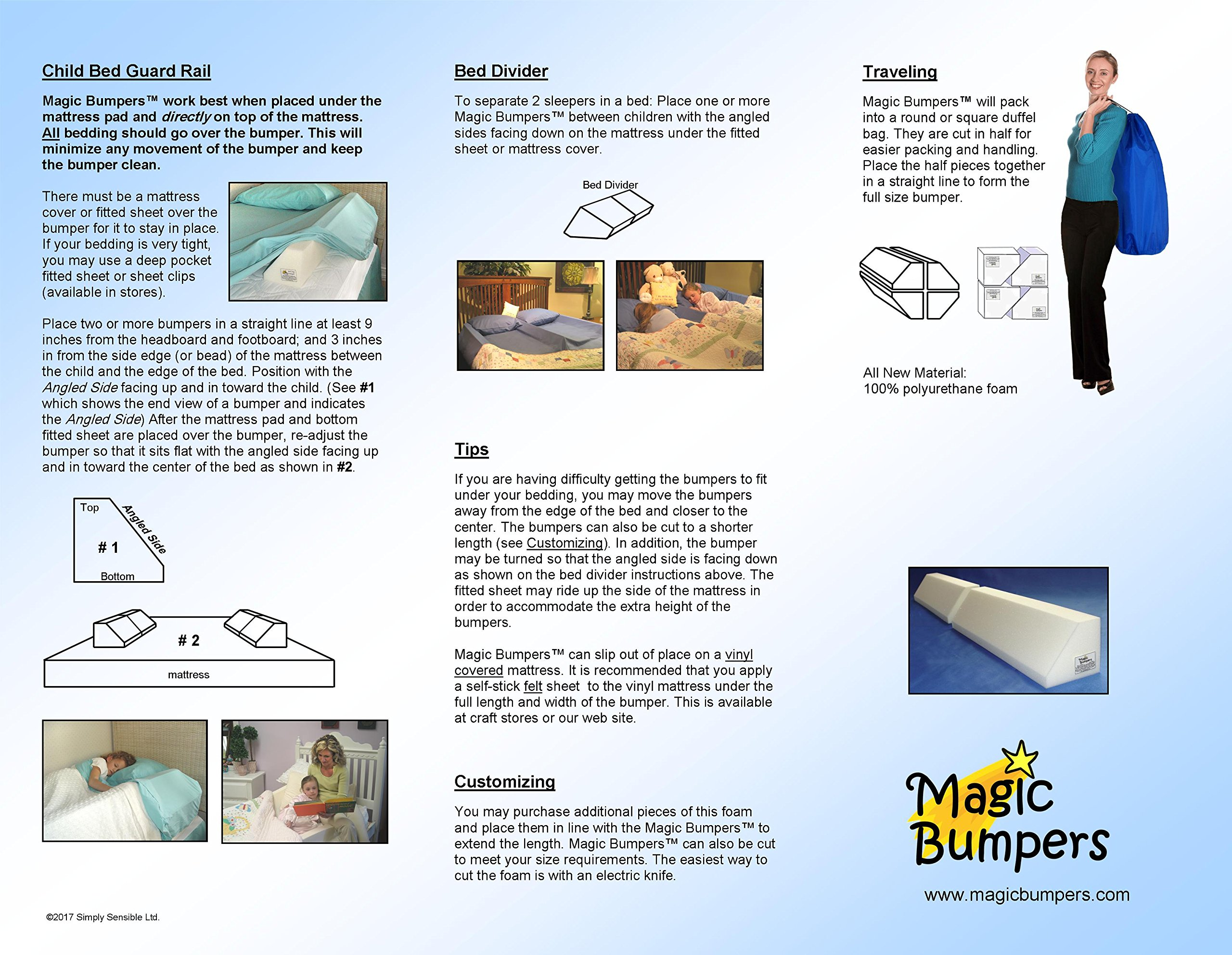 [2 Pack] Magic Bumpers Child Bed Safety Guard Rail 42 Inch - One Piece Design by Magic Bumpers (Image #7)