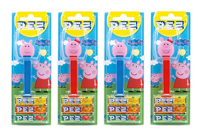 PEZ set de dispensadores Peppa Pig (4 dispensadores PEZ / 2 surtidos con 3 recargas